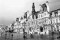 Paris black and white photos - H�tel de Ville