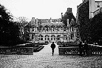 Paris black and white photos - Marais - H�tel de Sully
