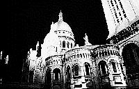 Paris black and white photos at night - Montmartre - Sacr� Coeur