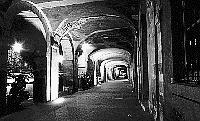 Paris black and white photos at night - Marais - Place des Vosges