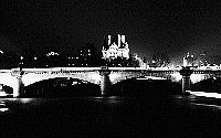 Paris black and white photos at night - Pont Neuf