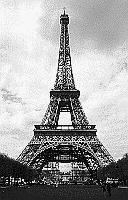 Paris black and white photos - Eiffel Tower