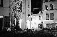 Paris black and white photos at night - Marais - Village Saint Paul